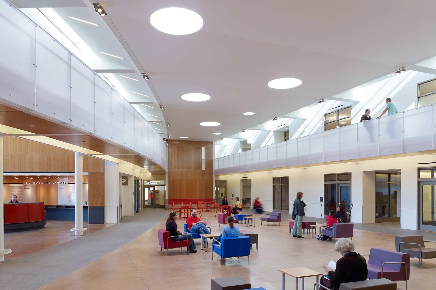 The Ed Roberts Campus is a nationally-recognized model of universal design in the San Francisco Bay Area, exemplifying design addressing a social justice issue.