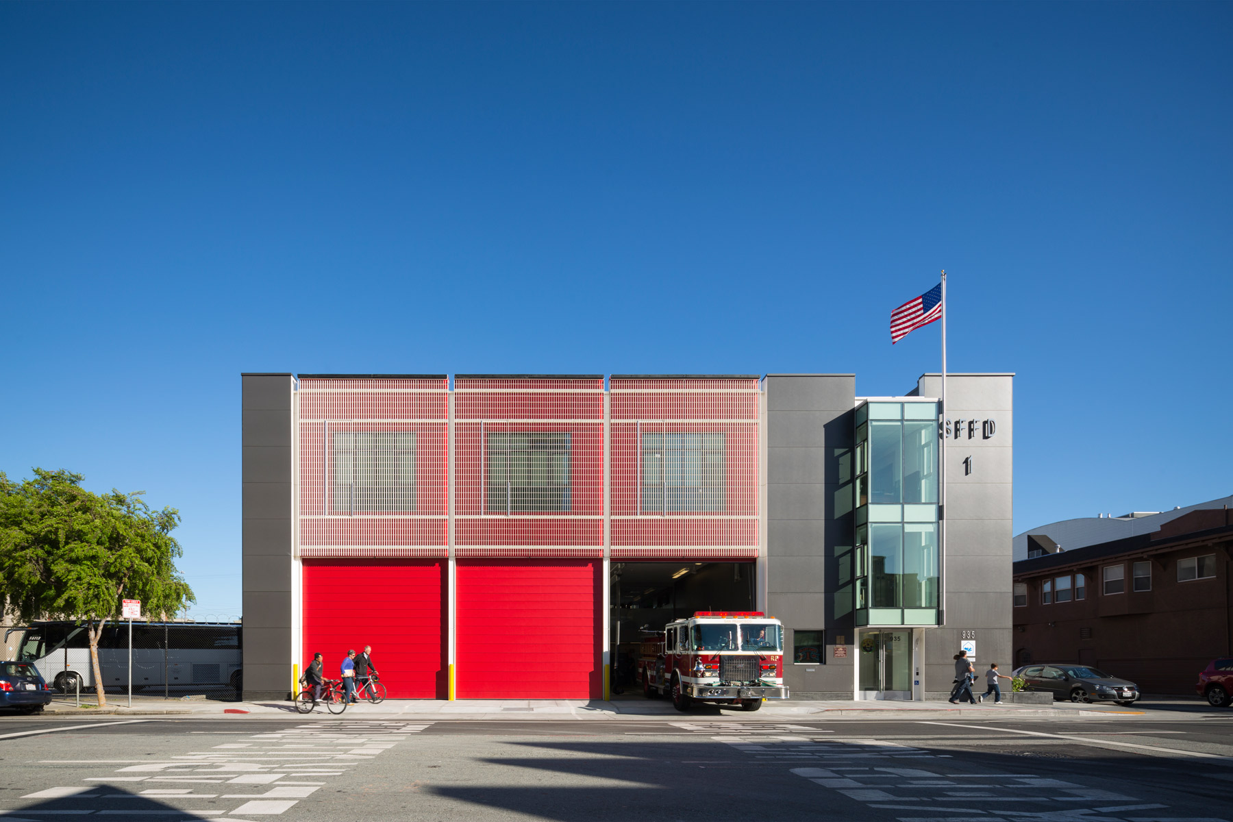 Firehouse No. 1 is a joint venture between the San Francisco Museum of Modern Art and the City of San Francisco- it is one of the most sustainable and energy-efficient firehouses in the U.S.