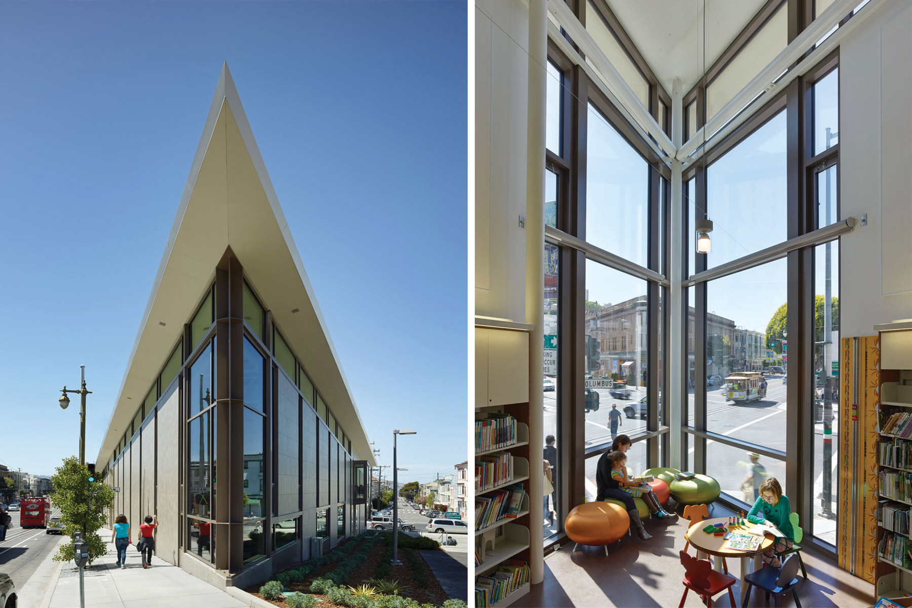The North Beach Branch Library in San Francisco is a centerpiece for the community and, in keeping with San Francisco's commitment to a sustainable future, is certified LEED Gold.
