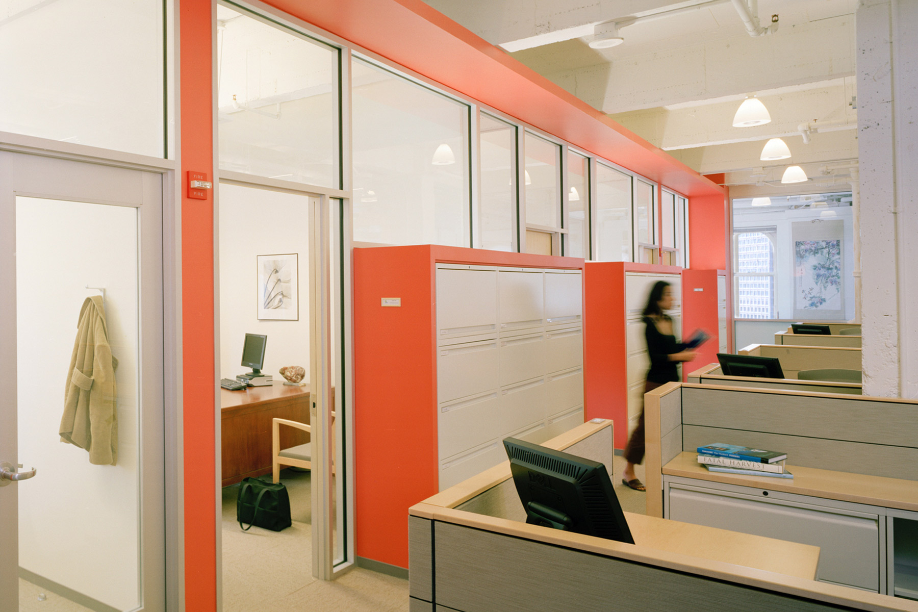 As one of the nation's most influential environmental action organizations, the Natural Resource's Defense Council's offices in San Francisco were designed to promote sustainable goals; the energy-efficient, environmentally responsible workplaces are certified LEED Gold.