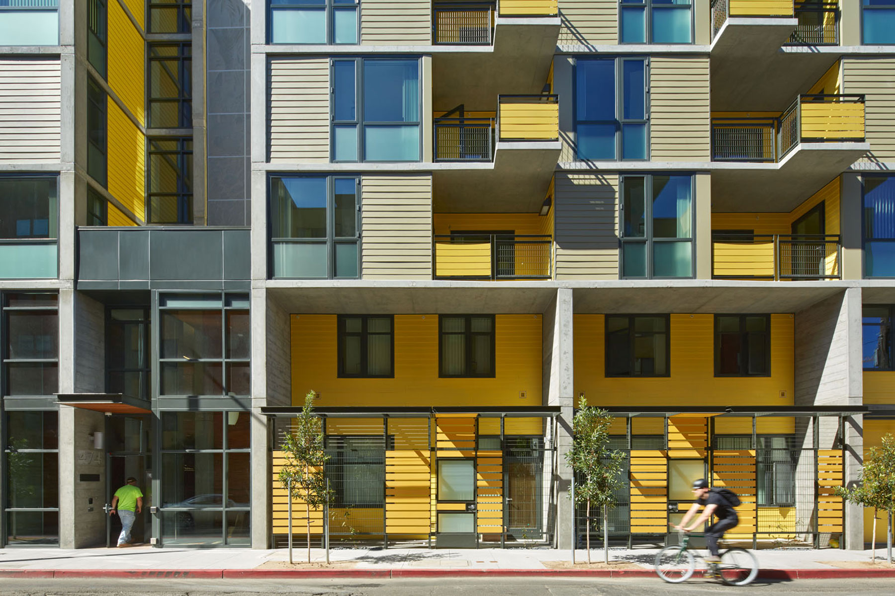 474 Natoma Apartments is an affordable family housing development in San Francisco's South of Market Redevelopment Area; it integrates many sustainable features resulting in a high Green Point certification.