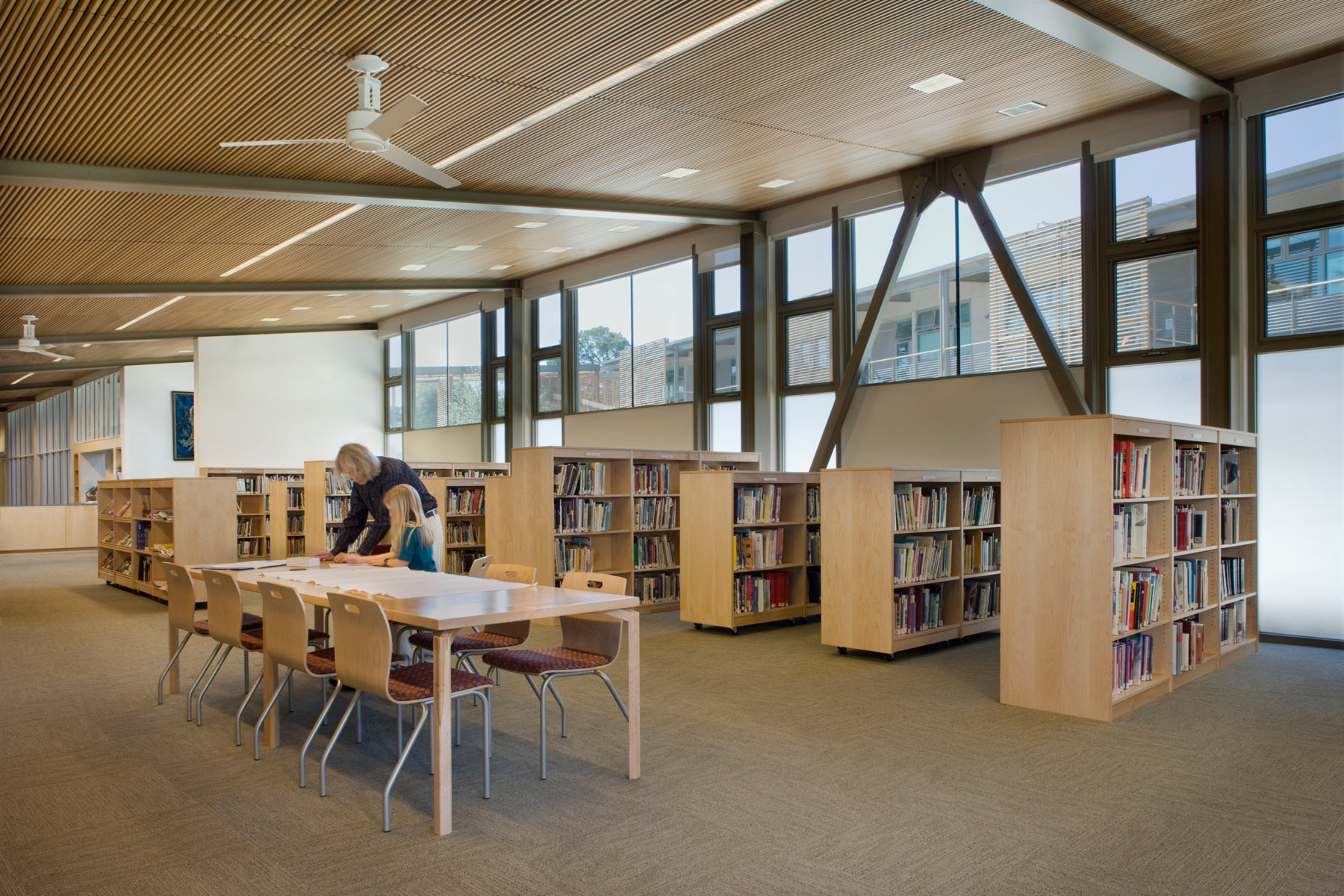 The Nueva Hillside Learning Complex is an innovative educational environment in the San Francisco Bay Area that is a sustainable model for 21st century students- the campus is certified LEED Gold and promotes environment stewardship and a passion for lifelong learning.
