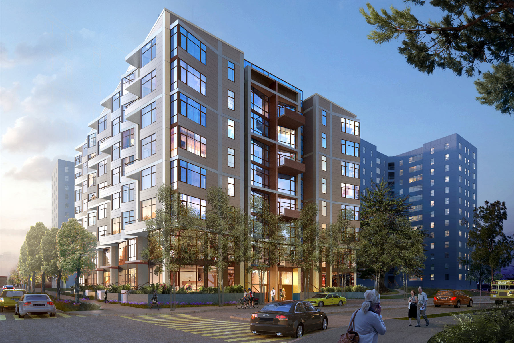 The Parkmerced Revitalization Plan is part of a widespread effort to increase the number of housing units in San Francisco; 300 Arballo's 89 apartments is the first wave of a new development that will eventually add more than 5,000 residences over a period of 20 to 30 years.