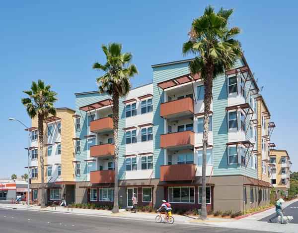 Laguna Commons in the San Francisco Bay Area is located at Fremont's historic Five Corners area, and provides affordable housing and supportive services for formerly homeless families and veterans.