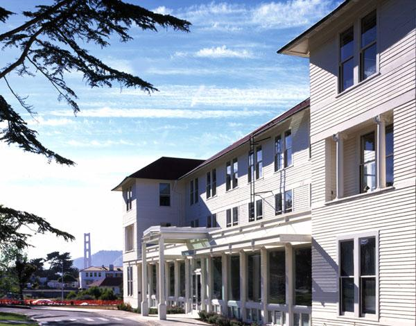 The Thoreau Center for Sustainability in San Francisco is a landmark renovation of the historic Army Hospital in the Presidio, and one of the first public/private partnership projects in the new National Park. This non-profit center is a national model for integrating sustainable design strategies within the National Register historic structures.